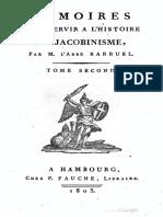 Barruel Augustin-Mémoires pour servir à l'histoire du jacobinisme-Tome 2