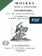 Barruel Augustin-Mémoires pour servir à l'histoire du jacobinisme-Tome 4