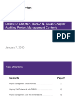 GT Auditing PM controls