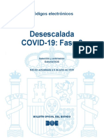 Fase 2 Desescalada España BOE Actualizado 6JUN20