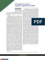 CSAT English Language Comprehension Skills Sample Paper 1
