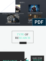 TYPE OF RESEARCH