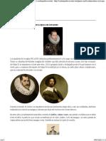 Cómo vestían los hombres en la época de Cervantes