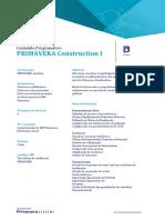 P014 - PRIMAVERA Construction I