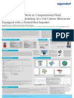 Use of a Rotating Mesh in Computational Fluid Dynamics (CFD) Modeling of a Cell Culture Bioreactor Equipped with a Packed-Bed Impeller - Eppendorf Poster