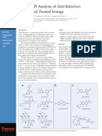 AN 372 LC-MSMS Analysis of Anti-Infectives In Raw and Treated Sewage