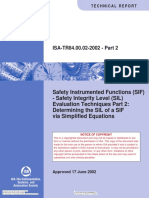 ISA TR 84840002 P2 Safety Instrumented Functions (SIF)