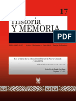 Educacion Militar en La Nueva Granada