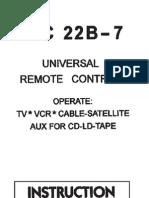 Manual Instrucciones Mando Universal URC22B