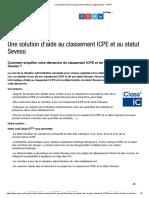 Une solution d'aide au classement ICPE et au statut Seveso - CNPP