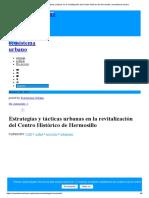 Estrategias y tácticas urbanas en la revitalización del Centro Histórico de Hermosillo _ ecosistema urbano