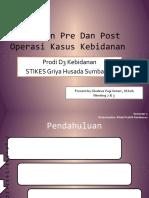 Persiapan Pre Dan Post Operasi Kasus Kebidanan