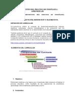 COMPONENTES DEL PROCESO DE ENSEÑANZA APRENDIZAJE
