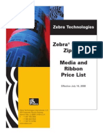 Zebra Zip Ship Price List 071408