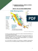HIERRO MINERAL - Y METALES ASOCIADOS - YACIMIENTOS - MEXICO - 2005121