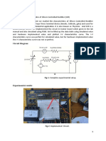 Study the characteristics of Silicon Controlled Rectifier (SCR)