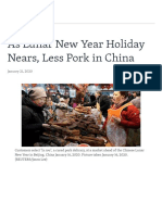 VOA_As Lunar New Year Holiday Nears Less Pork in China