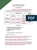 Acta y estatutos Asociación o Corporación sin JD ni RF 03