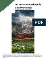 misterioso paisaje JAPONES mate en Photoshop