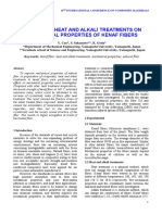 Effects of heat and alkali treatments on mechanical properties of kenaf fibres - CaoY