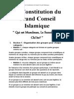 La Constitution du Grand Conseil Islamique