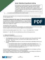3 Statistical hypothesis testing Edexcel