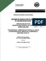 INFORME DE CONTRALORÍA Transparencia y Rendición de Cuentas Al Uso de Los Recursos en El Marco de La Emergencia 24 Abr 2020