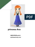 Princesa Ana Frozen amigurumi