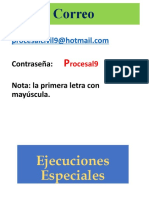 7. Ejecuciones Especiales