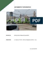 MEMORIA DESCRIPTIVA  DE LEVANTAMIENTO TOPOGRÁFICO EDIFICIO MULTIFAMILIAR SALAVERRY.pdf