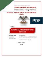CUESTIONARIO SOBRE SISTEMA DE RIEGO