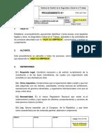 PRC-SST-005 Procedimiento para la Identificación de Requisitos Legales