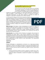 ELEMENTOS DE CONOCIMIENTOS BÁSICOS DEL PROGRAMA DE ADMINISTRACIÓN DE SERVICIOS DE SALUD
