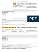2011 First Amendment Awards entry form