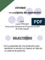 B-IV P Selectividad y Principios de Operación de protección