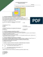 Examen de Matematicas 9-1p1-2019