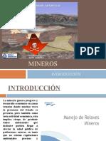 Guía de relave mineros