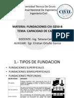 Capacidad de Carga- Auxiliatura clase 1 y 2