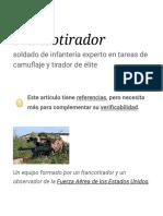 Francotirador - Wikipedia, la enciclopedia libre