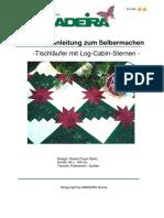 Kreative Anleitung zum Selbermachen -Tischläufer mit Log-Cabin-Sternen -.pdf