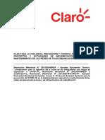 PLAN PARA LA VIGILANCIA, PREVENCIÓN Y CONTROL DE COVID-19 EN LOS PROYECT...