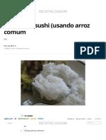 Arroz para sushi (usando arroz comum | Receitas Gshow | Gshow