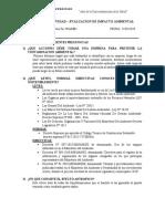 PRIMERA ACTIVIDAD EVAL. DE IMPACTO AMBIENTAL -