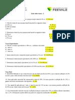Lista de exercícios 5 - Taxas 2