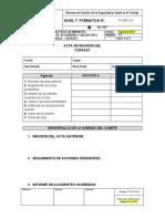 FT-SST-013 Formato de Acta de Reunión del COPASST