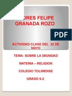 Actividad Clase del 22 Mayo - Dignidad.pptx