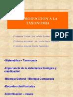 INTRODUCCION  A LA TAXONOMIA