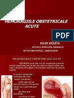 Hemoragiile Obstetric Ale Acute