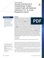 Success and Survival of Endodotically Treated Cracked Teeth with Radicular Extensions