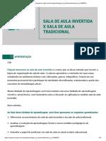 SALA DE AULA INVERTIDA X SALA DE AULA TRADICIONAL